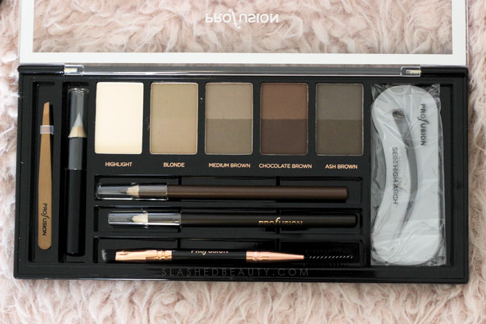 Define Brows Kit / Drugstore Brow Palette: Discover new drugstore makeup: Profusion Cosmetics! Check out these reviews & swatches of the must-have palettes. | Slashed Beauty