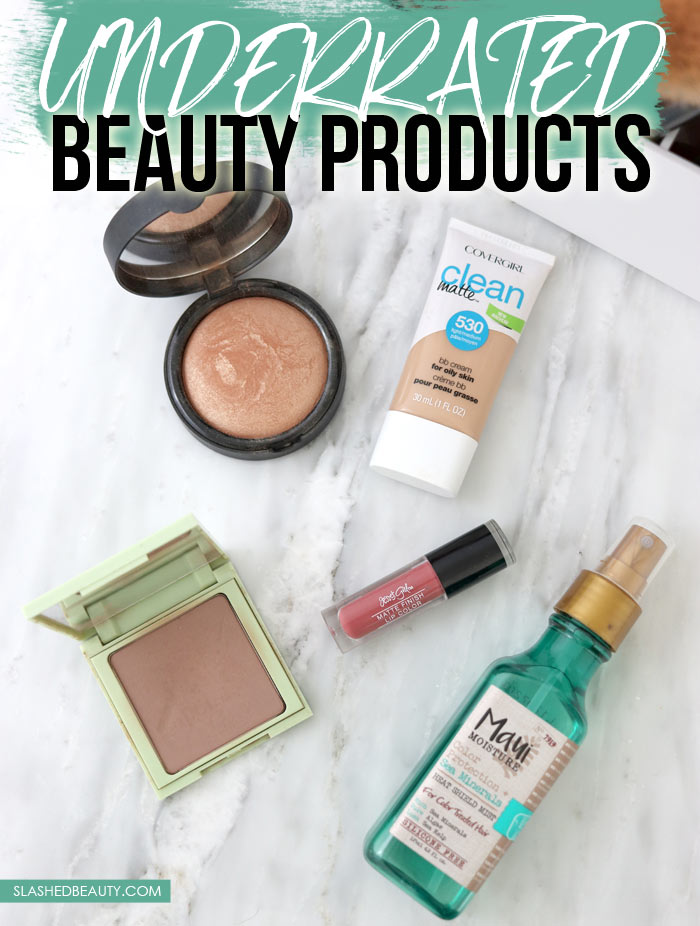 These five drugstore beauty products are seriously overlooked! Check out these underrated beauty favorites that deserve more attention. | Slashed Beauty