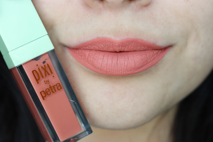 AU NATURELLE: Take a look at the brand new Pixi MatteLast Liquid Lips. See swatches of all five shades and how long do they really last? | Slashed Beauty
