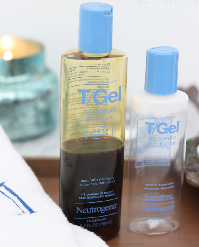 For months I asked myself: Why does my hair smell bad after showering? Why does my hair smell like wet dog? Here's how I got rid of smelly hair with Neutrogena T/Gel Shampoo. | Slashed Beauty