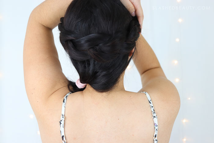 Check out this easy festival hair style: a half up crown braid that's perfect for second day hair. See the step-by-step festival hair tutorial! | Slashed Beauty