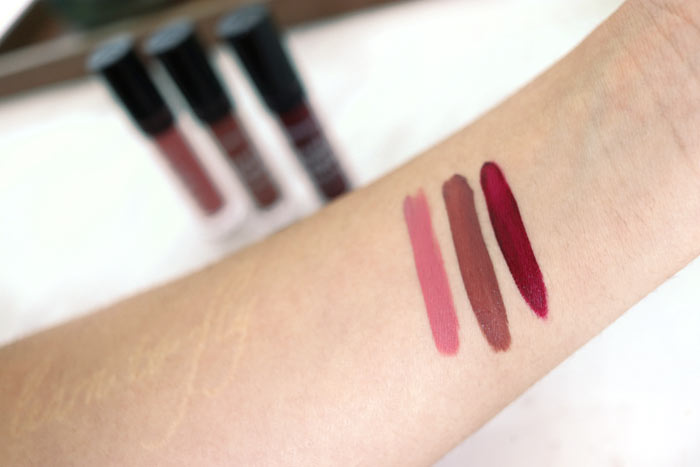 Jordana Sweet Cream Matte Liquid Lip Color Swatches: These three kiss proof drugstore lipsticks are perfect for Valentine's Day-- or any day you need a long lasting lip. | Slashed Beauty