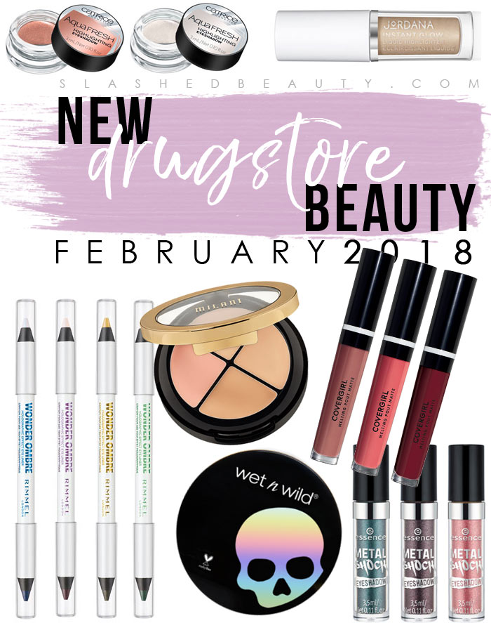 Take a look at the new drugstore makeup and beauty launches that popped up on shelves in February 2018! | Slashed Beauty