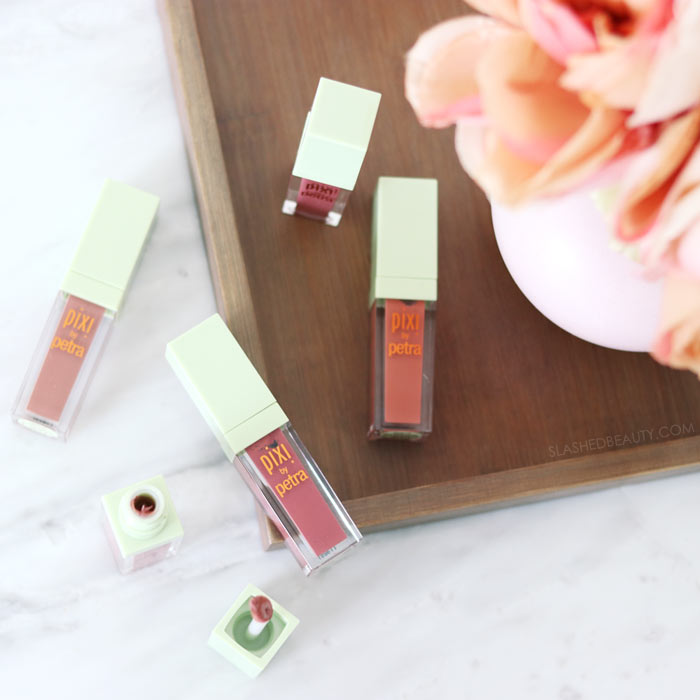 REVIEW: Take a look at the brand new Pixi MatteLast Liquid Lips. See swatches of all five shades and how long do they really last? | Slashed Beauty