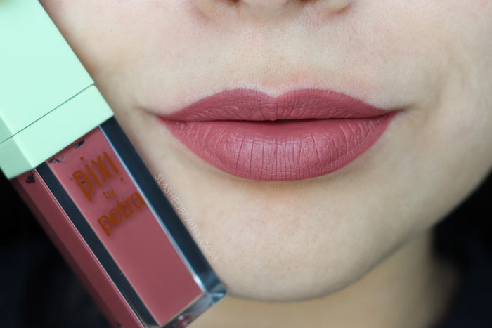 EVENING ROSE: Take a look at the brand new Pixi MatteLast Liquid Lips. See swatches of all five shades and how long do they really last? | Slashed Beauty