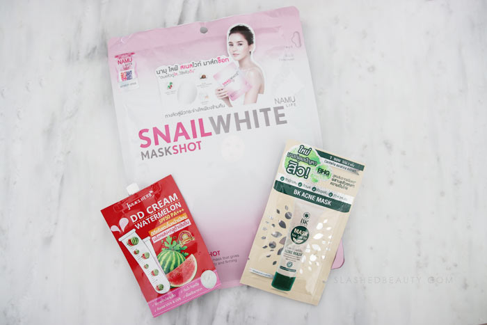 Check out these skin care products and makeup from Thailand I picked up on my honeymoon! | Slashed Beauty
