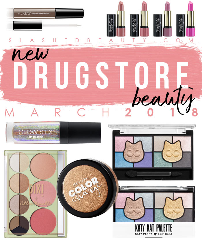 Check out the new drugstore makeup and beauty launches hitting shelves in March 2018! | Slashed Beauty