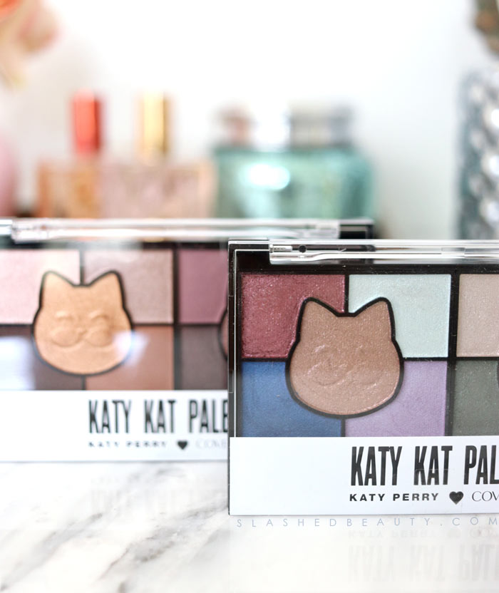 Check out the newest products from the Katy Perry x COVERGIRL collaboration-- the Katy Kat Palettes. See swatches! | Slashed Beauty