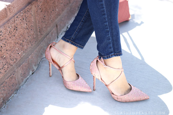 Badgley Mischka Shiloh Shoes: Check out my newest spring style favorites: statement fashion and style staples, plus a little beauty! | Slashed Beauty