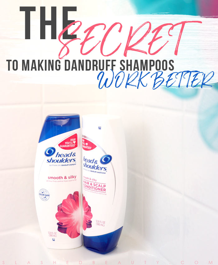 Does your dandruff shampoo leave you wanting more? You might need to add one more product to your routine. Here's how to make your dandruff shampoo work better. | Slashed Beauty