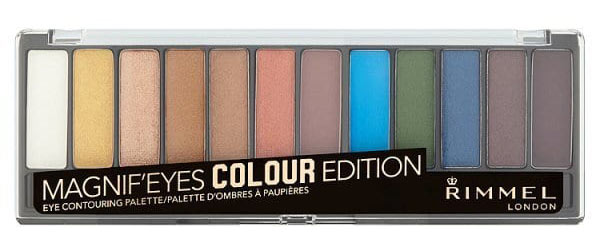 Rimmel Magnif'Eyes Colour Edition: Take a look at the new drugstore makeup that launched during April 2018: a lot of spring-focused highlight shades and pops of color! | Slashed Beauty