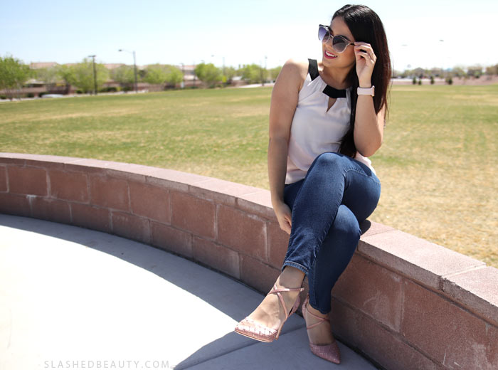 Check out my newest spring style favorites: statement fashion and style staples, plus a little beauty! | Slashed Beauty