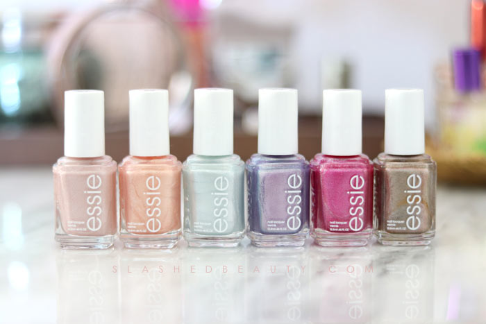 See swatches of the 2018 essie Seaglass Shimmers collection! | Slashed Beauty
