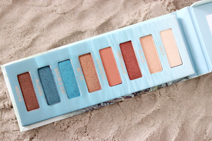Is the new Urban Decay Beached Eyeshadow Palette worth the hype? Review & Swatches. Find out my one gripe with the otherwise gorgeous palette... | Slashed Beauty