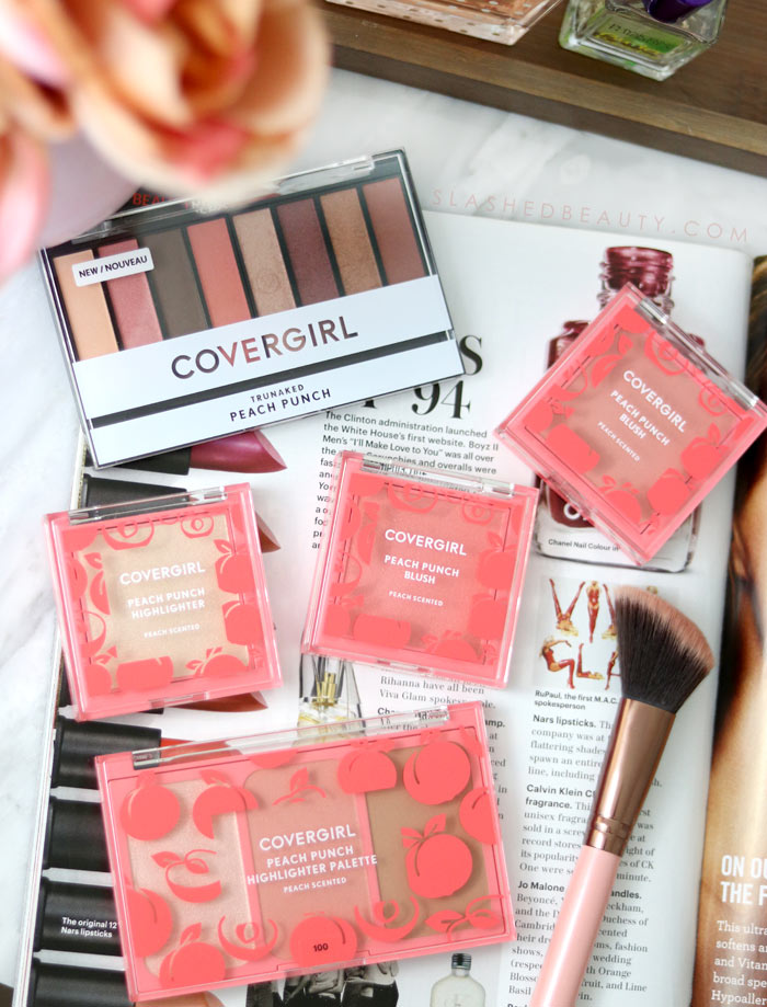 Check out the new COVERGIRL Peach Punch Collection - a drugstore peach themed makeup collection for Summer 2018 | Slashed Beauty