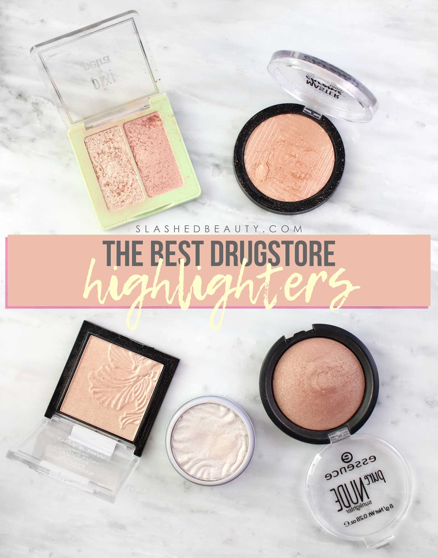 The Best Drugstore Highlighters | Drugstore Highlighter Swatches | Slashed Beauty