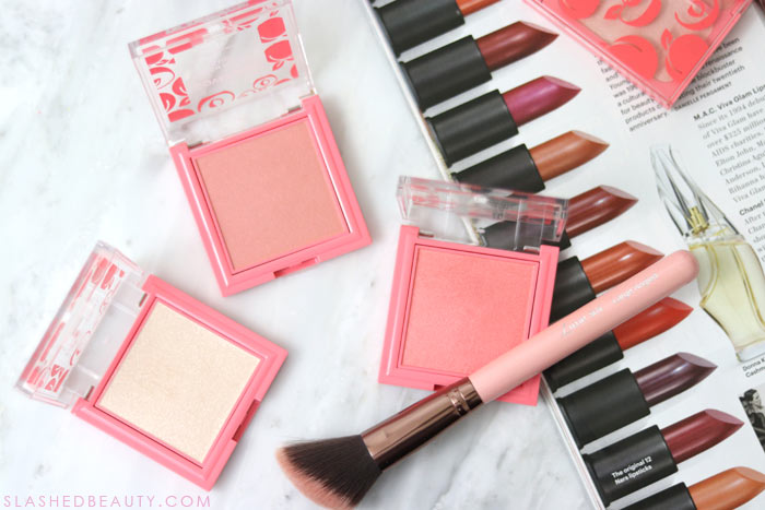 COVERGIRL Peach Punch Blush and Highlighter: Check out the new COVERGIRL Peach Punch Collection - a drugstore peach themed makeup collection for Summer 2018 | Slashed Beauty