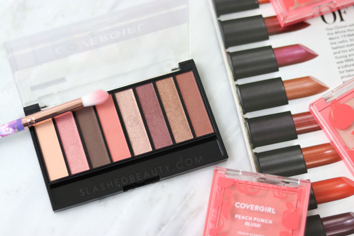 COVERGIRL TruNaked Peach Punch Eyeshadow Palette: Check out the new COVERGIRL Peach Punch Collection - a drugstore peach themed makeup collection for Summer 2018 | Slashed Beauty