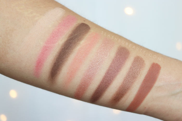 COVERGIRL TruNaked Peach Punch Eyeshadow Palette Swatches: Check out the new COVERGIRL Peach Punch Collection - a drugstore peach themed makeup collection for Summer 2018 | Slashed Beauty