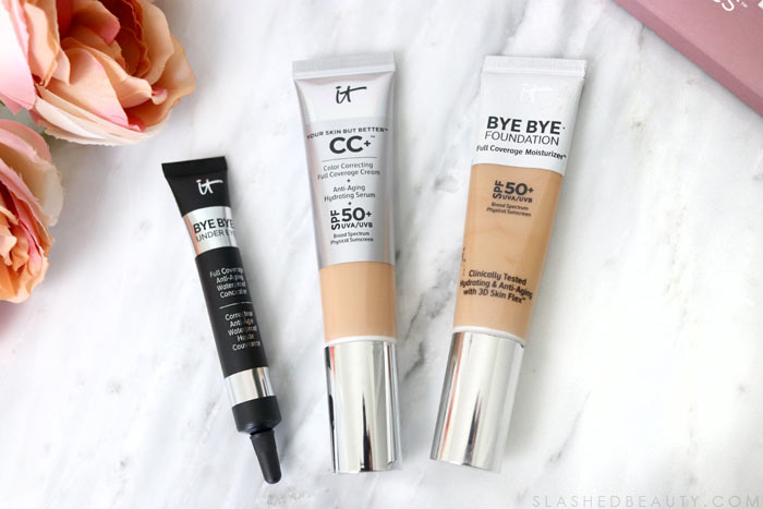 Bye Bye Foundation: Curious about what the best makeup from It Cosmetics are? See my favorites that are worth the splurge. | Slashed Beauty