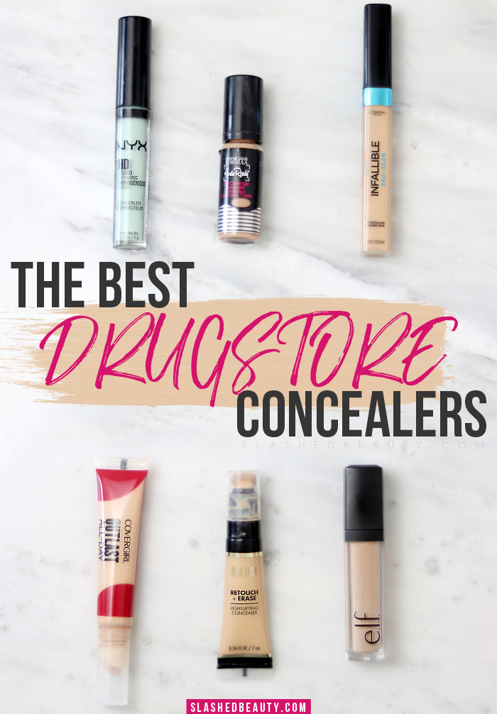Looking for the best drugstore concealers? Here are the ones that'll give you bang for your buck for every step in your beauty routine. | Slashed Beauty