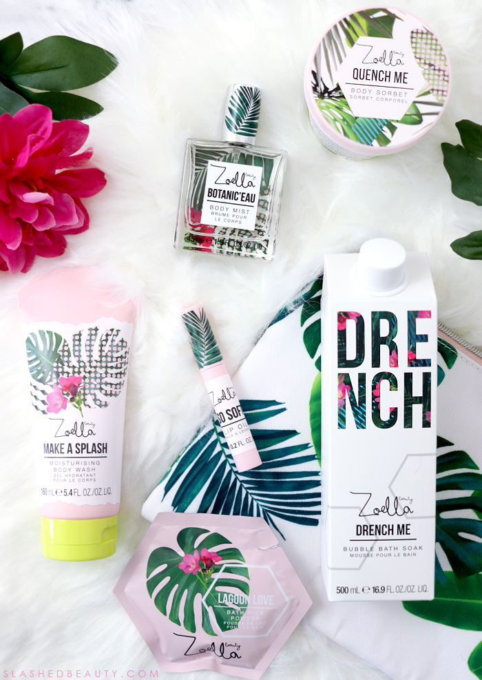 Take a look at the new Zoella Beauty Splash Botanics Collection, a fresh bath & body line for summer. | Slashed Beauty
