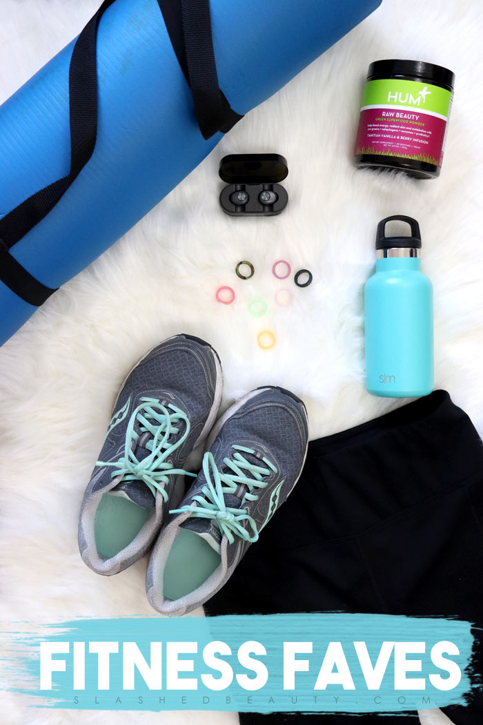 Looking for some new workout accessories to add to your fitness faves? Check out my favorites including bluetooth headphones, exercise mat, athletic clothes & more | Slashed Beauty
