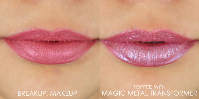 Too Faced Melted Matte-tallic Breakup, Makeup Swatch | Peep the brand new Too Faced Melted Matte-tallics Brushed Metal Matte Lipsticks. See swatches and read the review: are they worth the splurge? | Slashed Beauty
