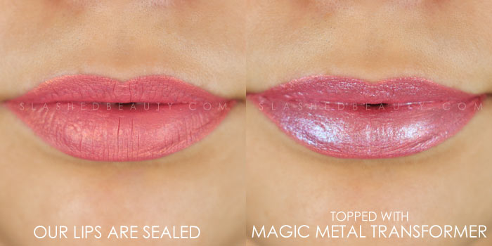 Too Faced Melted Matte-tallic Our Lips Are Sealed Swatch | Peep the brand new Too Faced Melted Matte-tallics Brushed Metal Matte Lipsticks. See swatches and read the review: are they worth the splurge? | Slashed Beauty