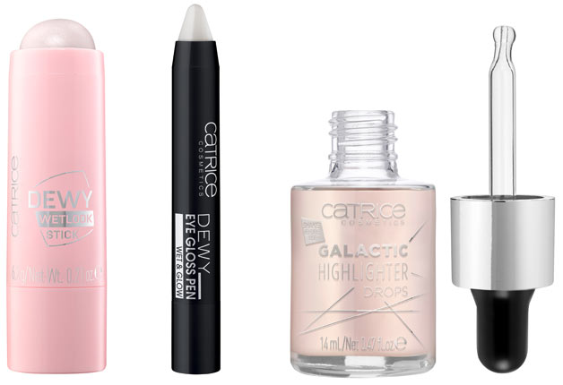 New Catrice Makeup: Dewy Wetlook Stick, Dewy Eye GLoss Pen, Galactic Highlighter Drops. See what new drugstore and beauty launches have released in July 2018! | Slashed Beauty