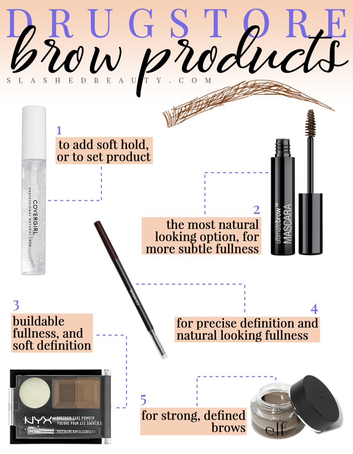 Which brow product is best for your brow style? Check out the best drugstore brow products depending on your preferred brow look. | Slashed Beauty