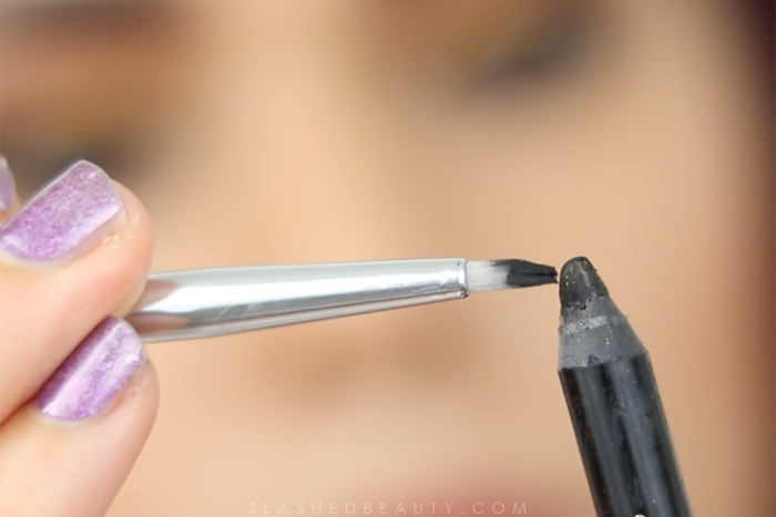 How to create winged liner with pencil: These eye makeup hacks will help fix mistakes and help you avoid starting from scratch. Watch the hack video! | Slashed Beauty