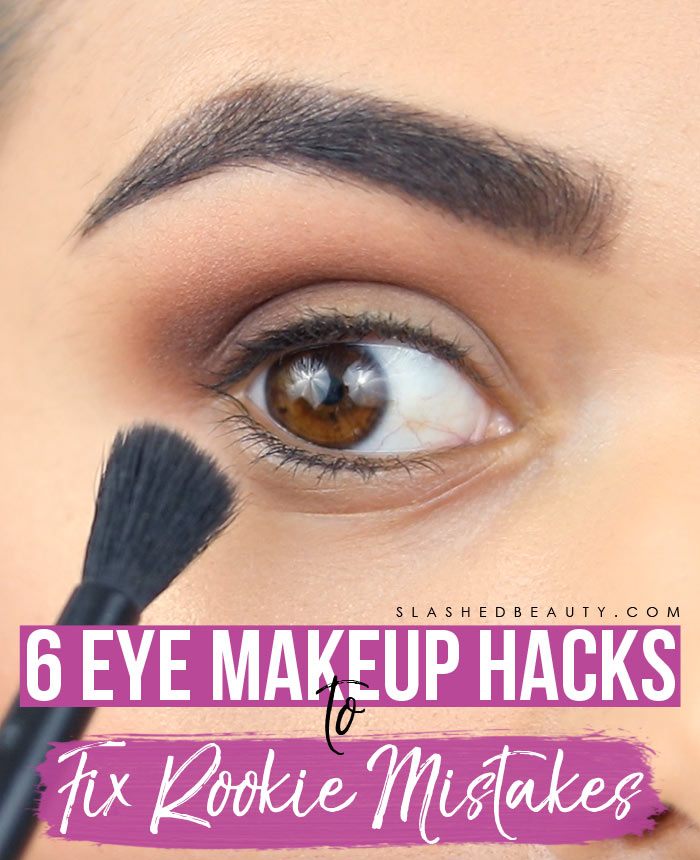 These eye makeup hacks will help fix mistakes and help you avoid starting from scratch. Watch the hack video! | Slashed Beauty