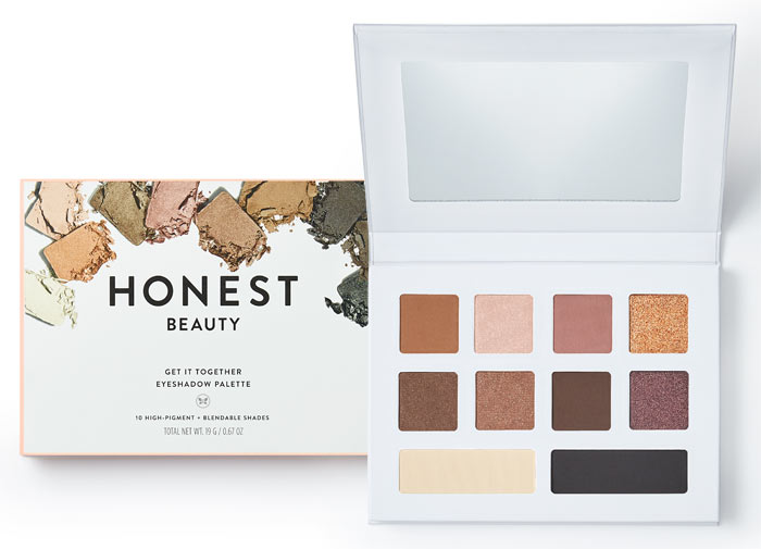 New Honest Beauty Makeup: Get It Together Eyeshadow Palette. See what new drugstore and beauty launches have released in July 2018! | Slashed Beauty