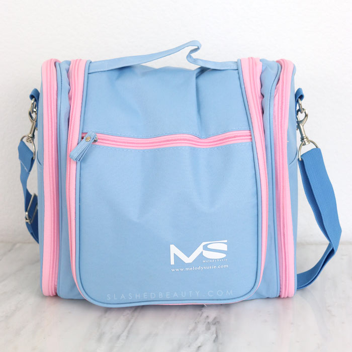 If you're looking for a travel bag for beauty products that can accomodate your full routine, you'll want to check out the MelodySusie Toiletry Bag. See what all fits inside! | Slashed Beauty