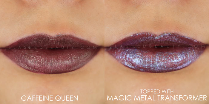 Too Faced Melted Matte-tallic Caffeine Queen Swatch | Peep the brand new Too Faced Melted Matte-tallics Brushed Metal Matte Lipsticks. See swatches and read the review: are they worth the splurge? | Slashed Beauty