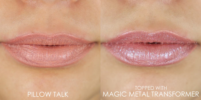 Too Faced Melted Matte-tallic Pillow Talk Swatch | Peep the brand new Too Faced Melted Matte-tallics Brushed Metal Matte Lipsticks. See swatches and read the review: are they worth the splurge? | Slashed Beauty