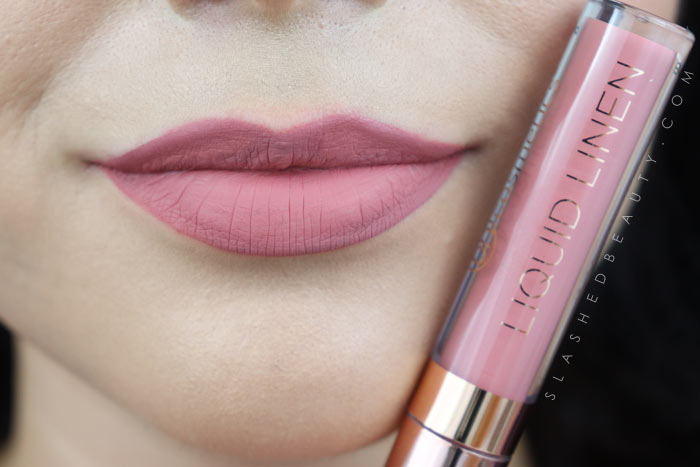 BH Cosmetics Liquid Linen Lipstick in Monica | See this review & swatches of BH Cosmetics Liquid Linen Lipsticks compared to the website photos before you buy! | Slashed Beauty