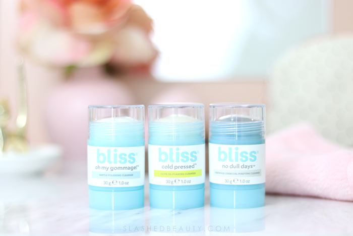 Bliss Cleansing Sticks Review: The Bliss Cleansing sticks are the best face wash for after the gym or to travel with!   Slashed Beauty