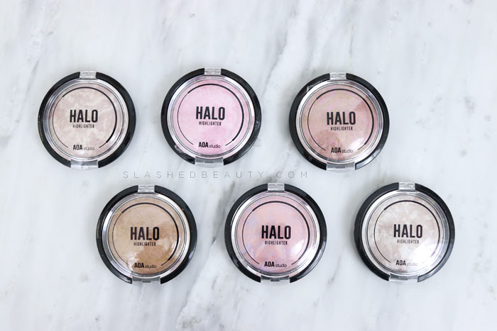 Have you tried anything from Shop Miss A yet? Check out this AOA Halo Highlighters review & swatches! | Slashed Beauty