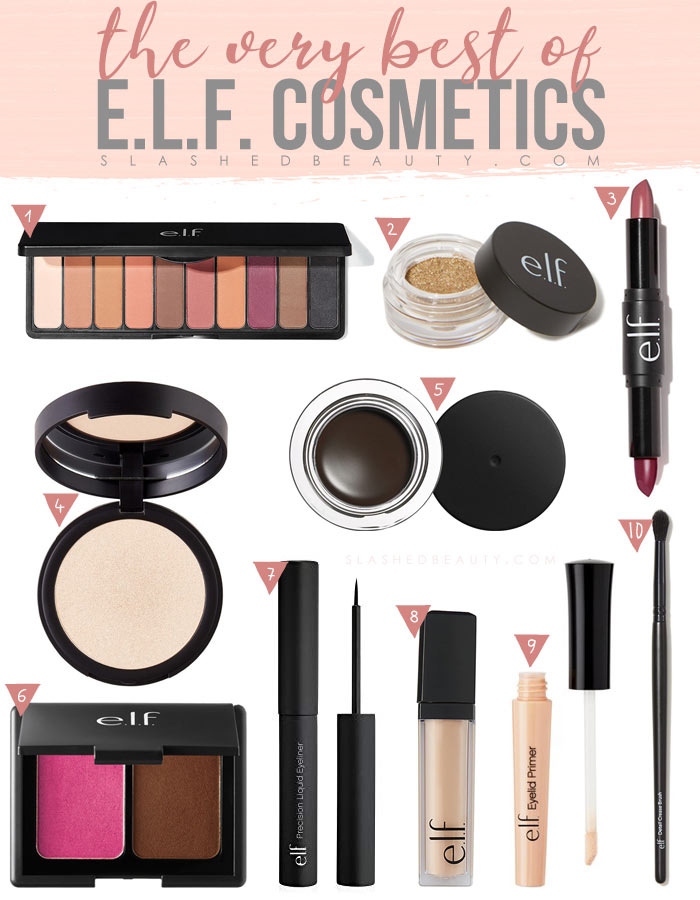 What is the best makeup from e.l.f. Cosmetics? Check out these ten makeup favorites from the budget beauty brand! | Slashed Beauty
