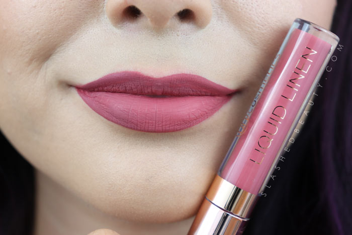 BH Cosmetics Liquid Linen Lipstick in Jacqueline | See this review & swatches of BH Cosmetics Liquid Linen Lipsticks compared to the website photos before you buy! | Slashed Beauty