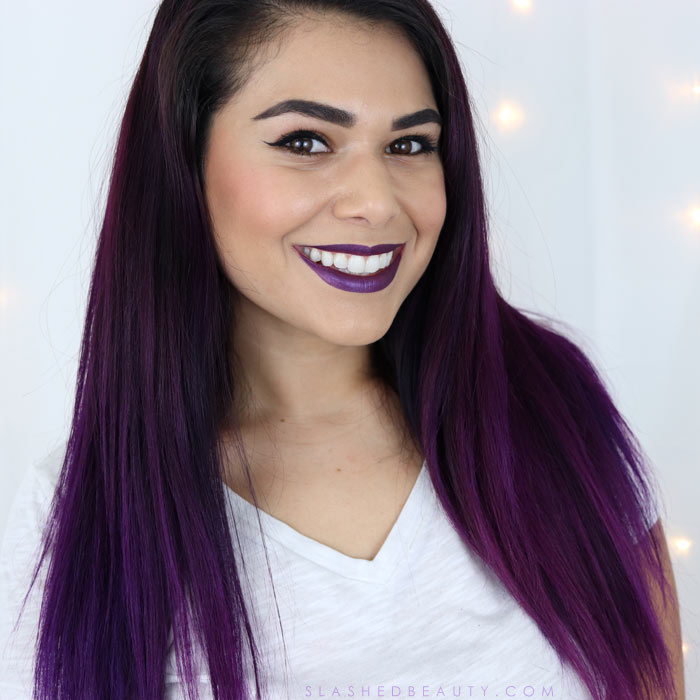 See what I use in my purple hair color maintenance routine to help keep up my color and the health of my hair!   Slashed Beauty