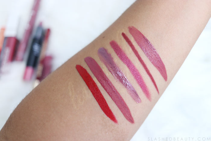 Red & Berry Drugstore Lipsticks for Fall: Before Fall is in full swing, take these baby steps to start the transition from summer to fall makeup! Complete with drugstore makeup suggestions. | Slashed Beauty