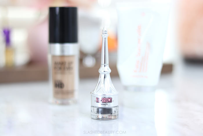 Some beauty products are worth the splurge! Here are three splurge-worthy beauty products in my routine: Benefit ka-BROW! Cream-Gel Eyebrow Color | Slashed Beauty
