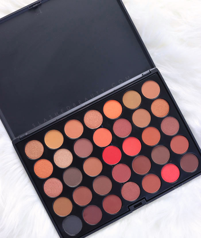 Take a look at the Crown Brush 35 Color Scandalous Eyeshadow Palette Less than $15 for Fall! | Slashed Beauty