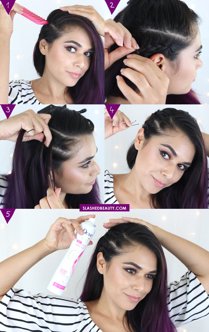 Music Festival Side Braids Hair Tutorial: Faux Side Shave with Braids | Slashed Beauty