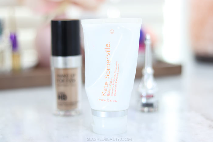 Some beauty products are worth the splurge! Here are three splurge-worthy beauty products in my routine: Kate Somerville ExfoliKate Intensive Exfoliating Treatment | Slashed Beauty