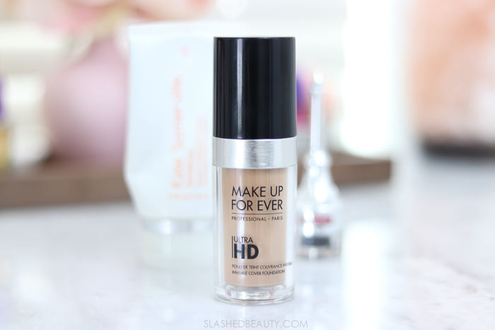 Some beauty products are worth the splurge! Here are three splurge-worthy beauty products in my routine: Make Up For Ever Ultra HD Invisible Cover Foundation | Slashed Beauty
