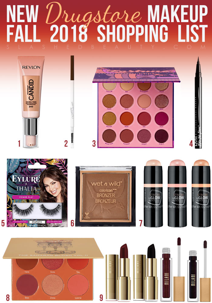See all the new drugstore makeup for fall 2018, and add these products to your shopping list!   Slashed Beauty